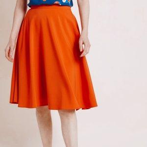 • MODCLOTH • orange circular skirt